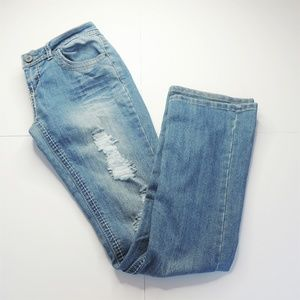 Mossimo Supply Distressed Bootcut Jeans  5